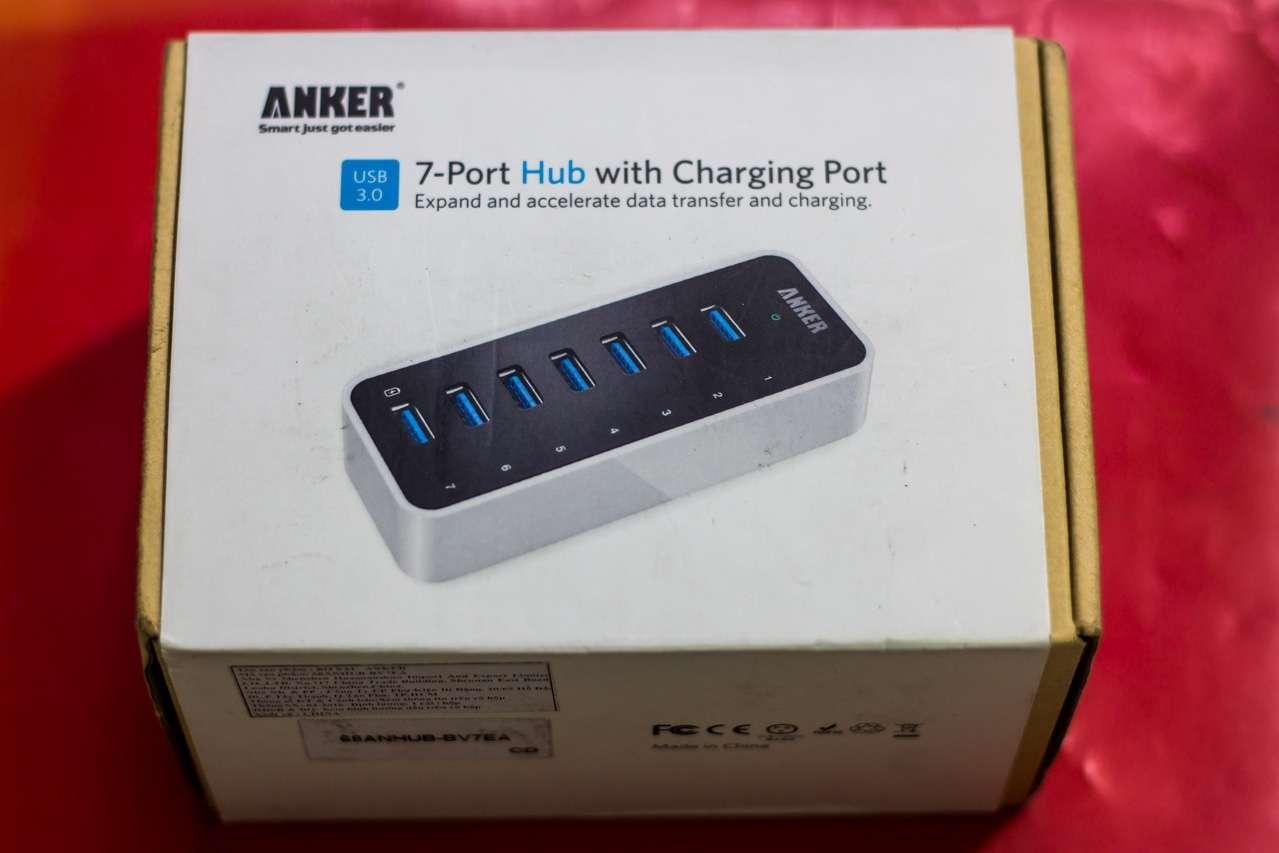 Anker USB 3.0 Hub 7*USB 3.0 Ports: Hub USB 7 cổng kèm khả năng sạc với công suất 60W cho 7 thiết bị - 164561