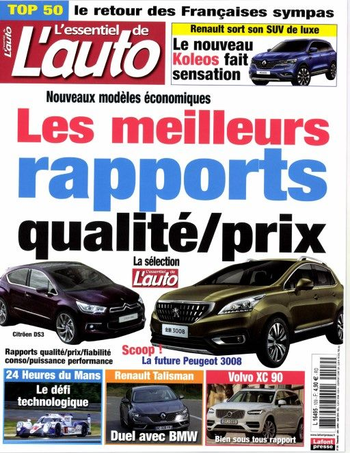 L'Essentiel de l'Auto 109 - Juin-Juillet-Août 2016