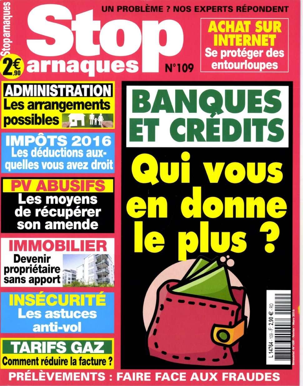 Stop Arnaques 109 - Fevrie/Mars 2016