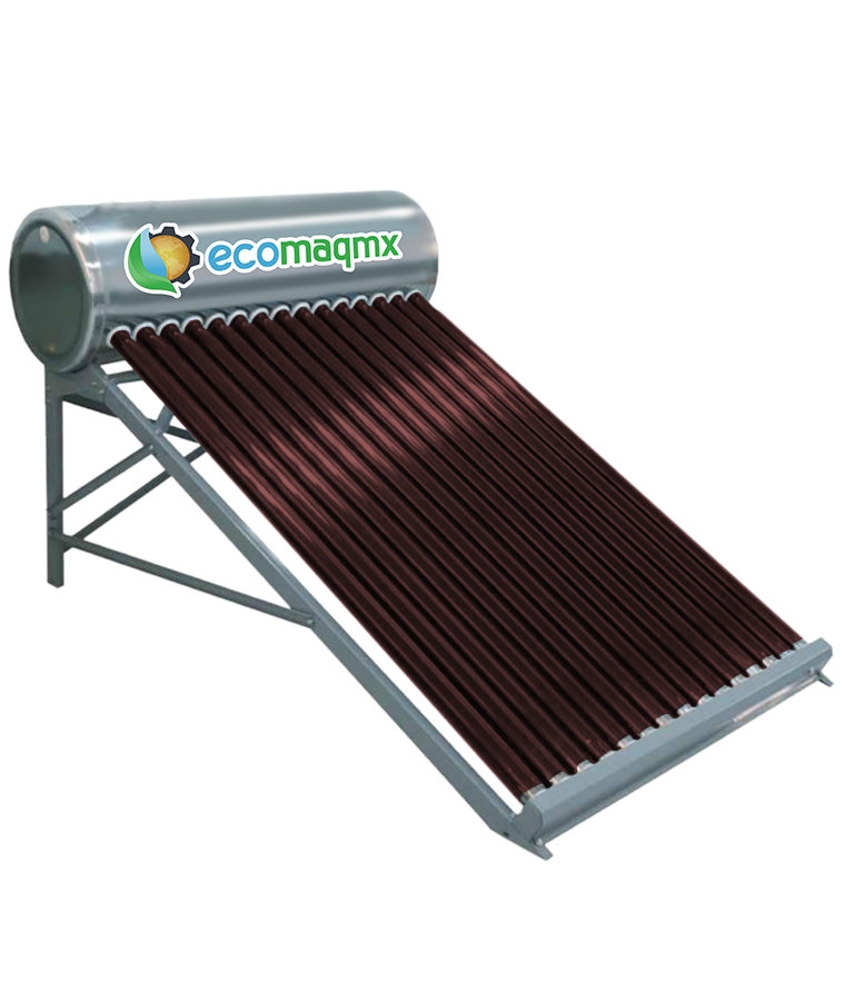 Calentador Solar Ecomaqmx 185L Personas 5 Personas 15 Tubos