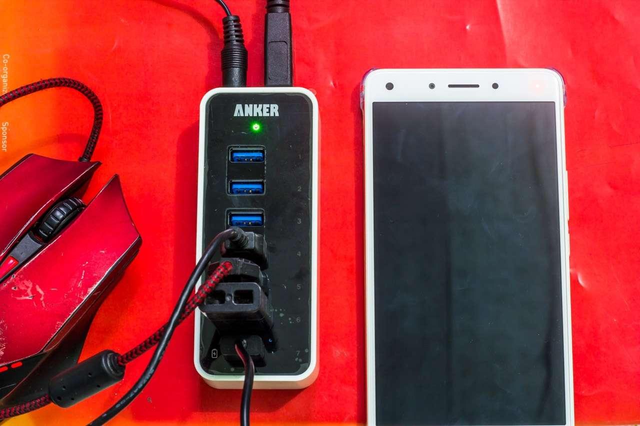 Anker USB 3.0 Hub 7*USB 3.0 Ports: Hub USB 7 cổng kèm khả năng sạc với công suất 60W cho 7 thiết bị - 164569