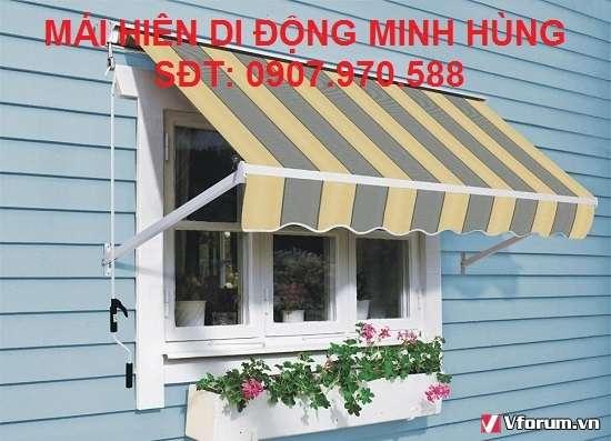 Làm mái hiên xếp di động quận Tân Bình, Tân Phú nhiều mẫu đẹp