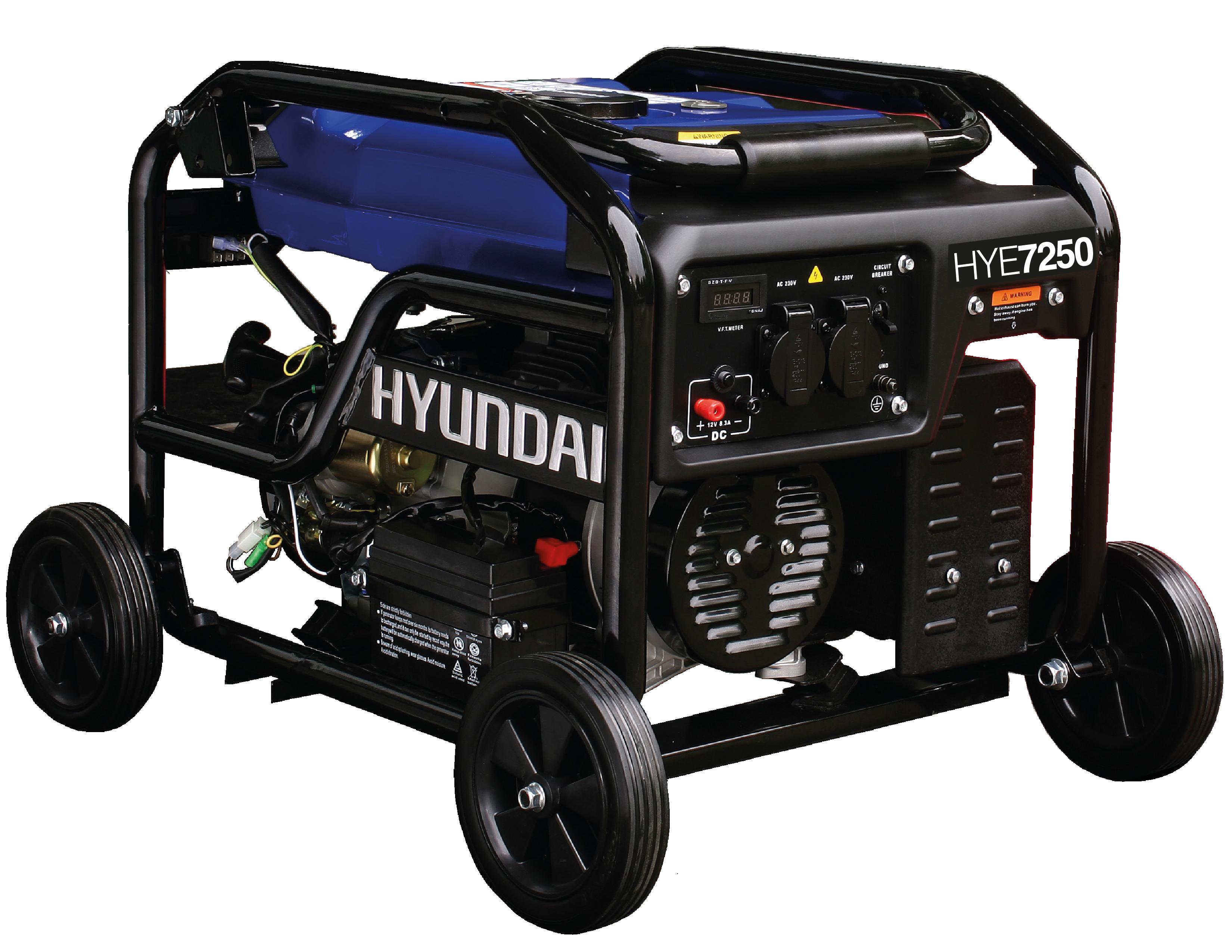 Generador a Gasolina Hyundai 7250watts 110/220v Hye7250