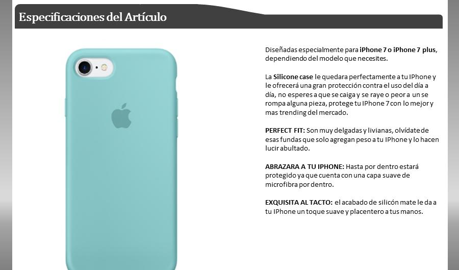 iphone 7 y 7 plus silicone case