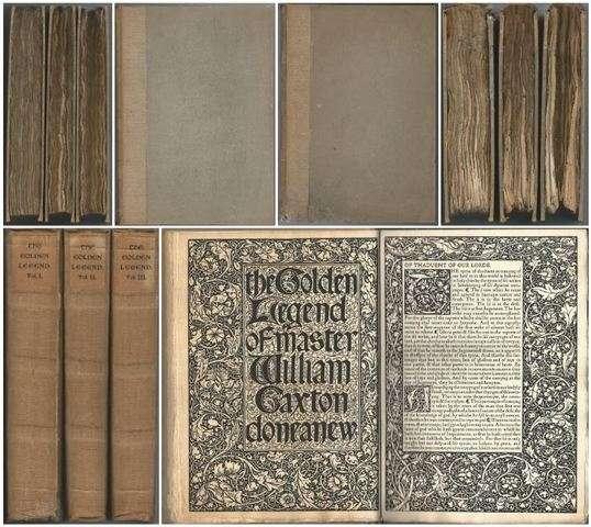 Golden Legend of Master William Caxton done anew, Jacobus de Voragine, William Morris, Edited by Frederick S. Ellis, Illustrated by Edward Burne-Jones