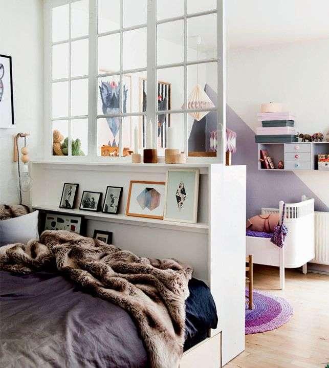 Opdeling af værelse med et vindue