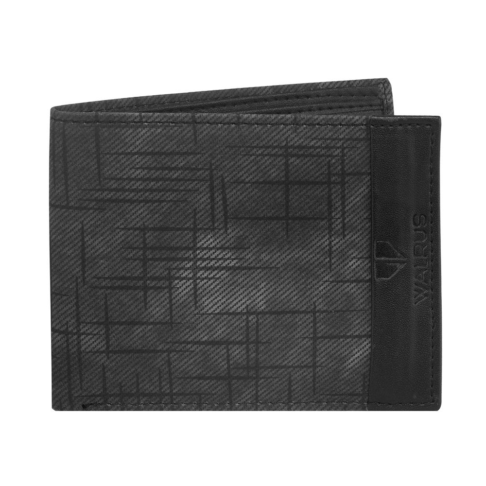 Walrus Owen Black Color Men Synthetic Wallet- WW-OWN-02