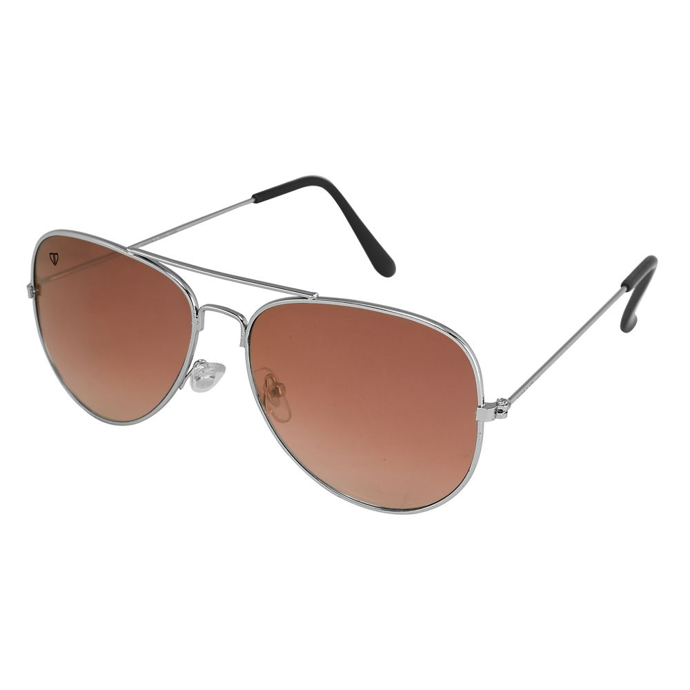 Walrus John Brown Color Unisex Aviator Sunglass - WS-JOHN-090707