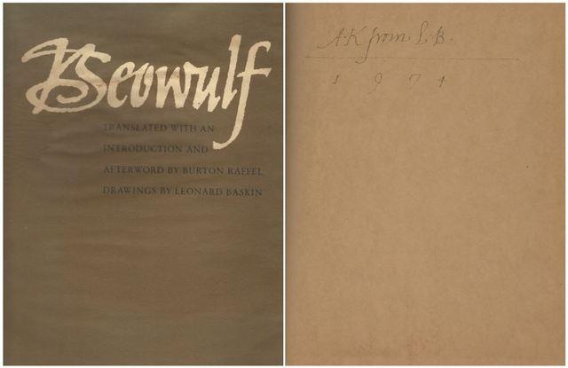 Beowulf Translated with an Introduction and Afterword by Burton, Burton Raffel