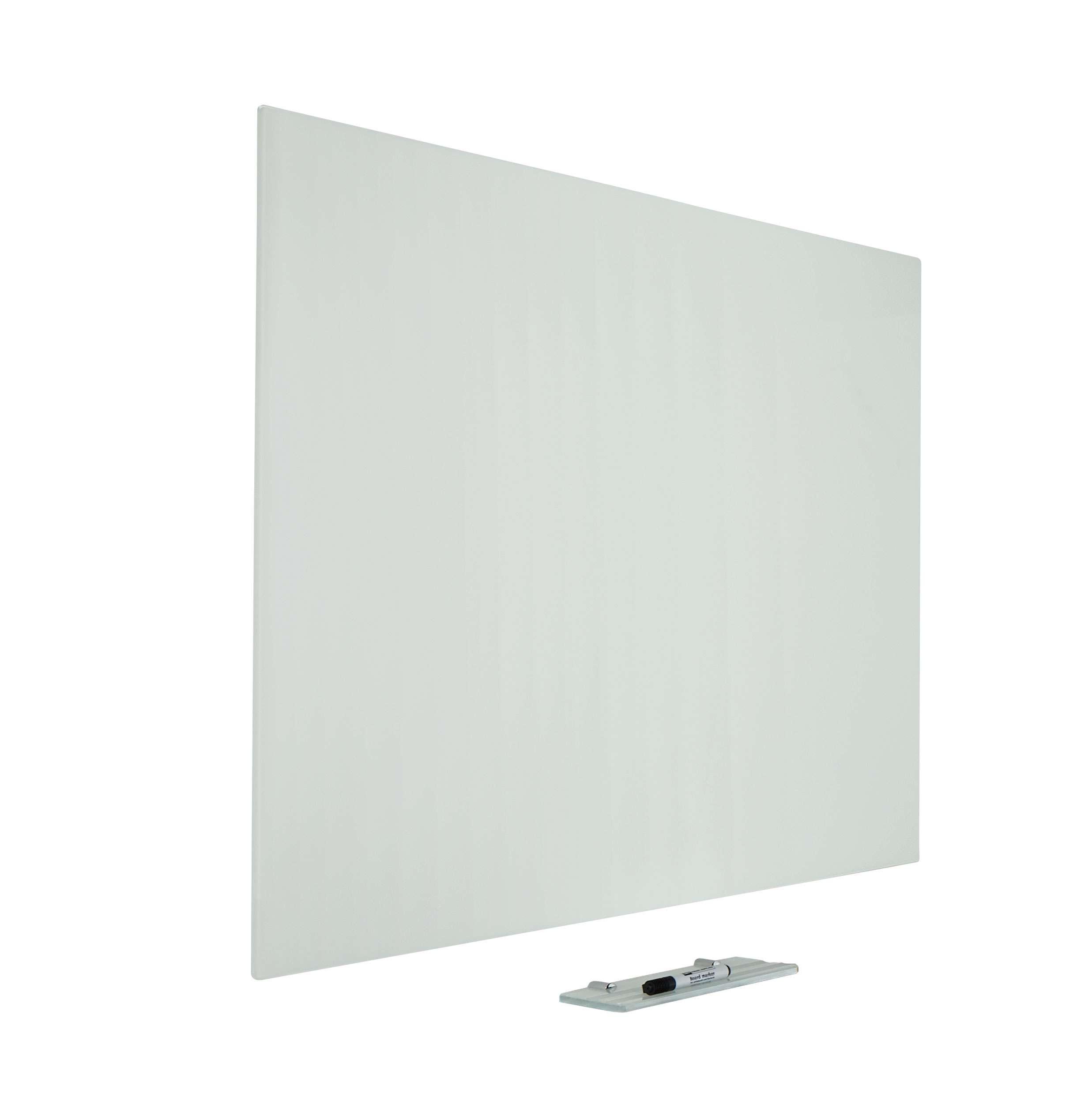 Photo: Glasbord Premium, verborgen ophang, magnetisch, wit