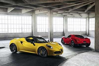 Alfa Romeo 4C Coupe and Spider