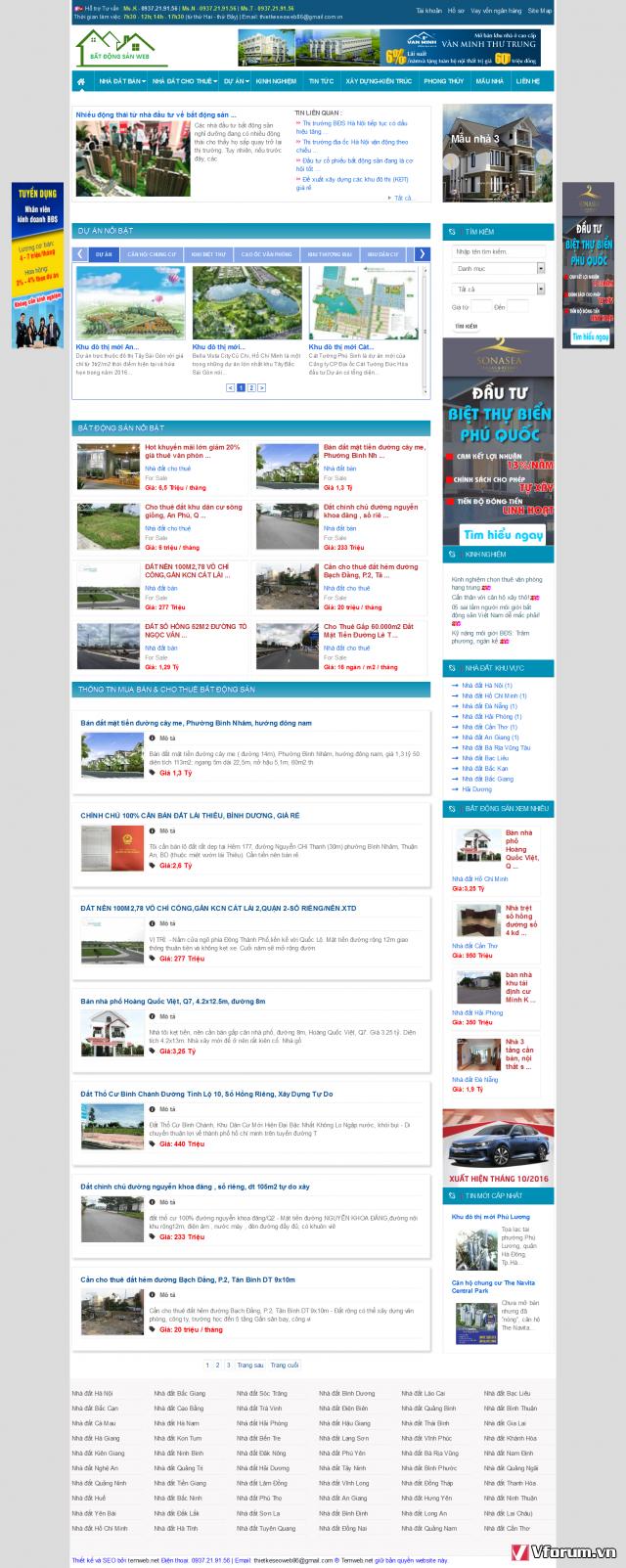 Website mua bán bất động sản siêu đẹp