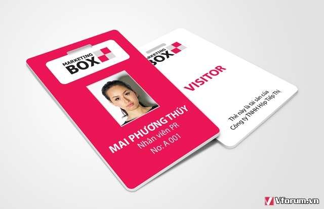 In thẻ nhân viên trọng gói từ thiết kế đến in ấn