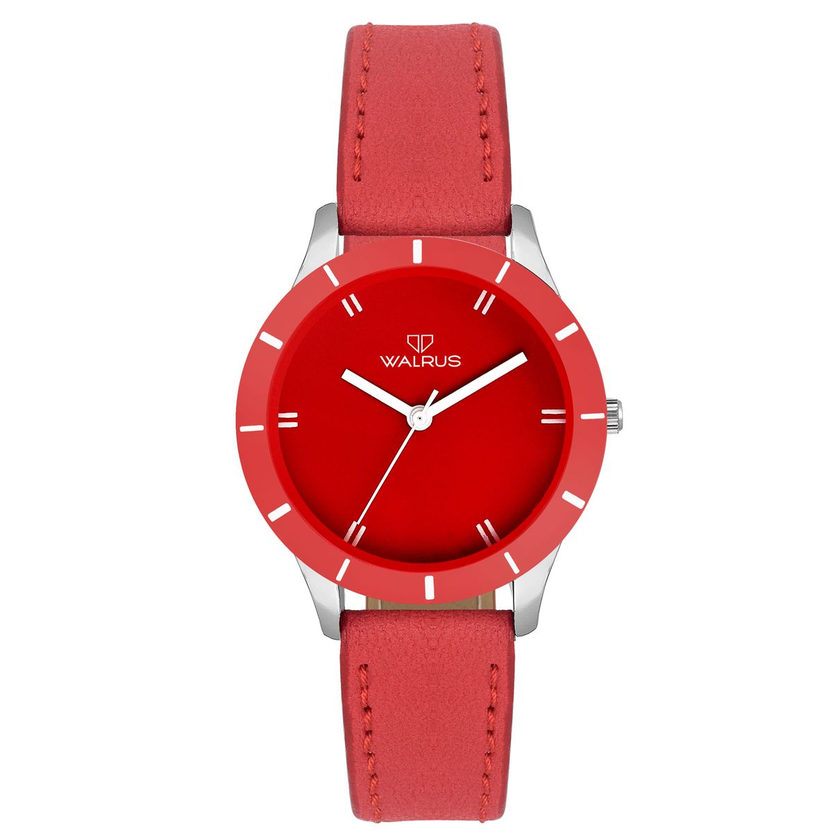 Walrus Eve Red Color Analog Women Watch -WWW-Eve -101007
