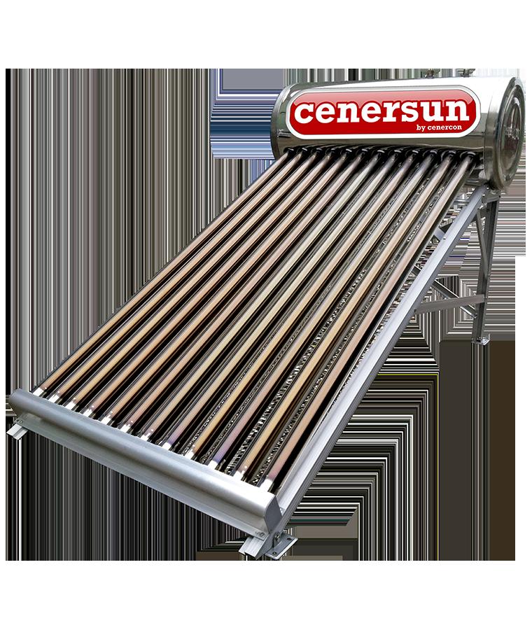 Calentador Solar Cenercon 150L 4 Personas P/Tinaco 12 Tubos