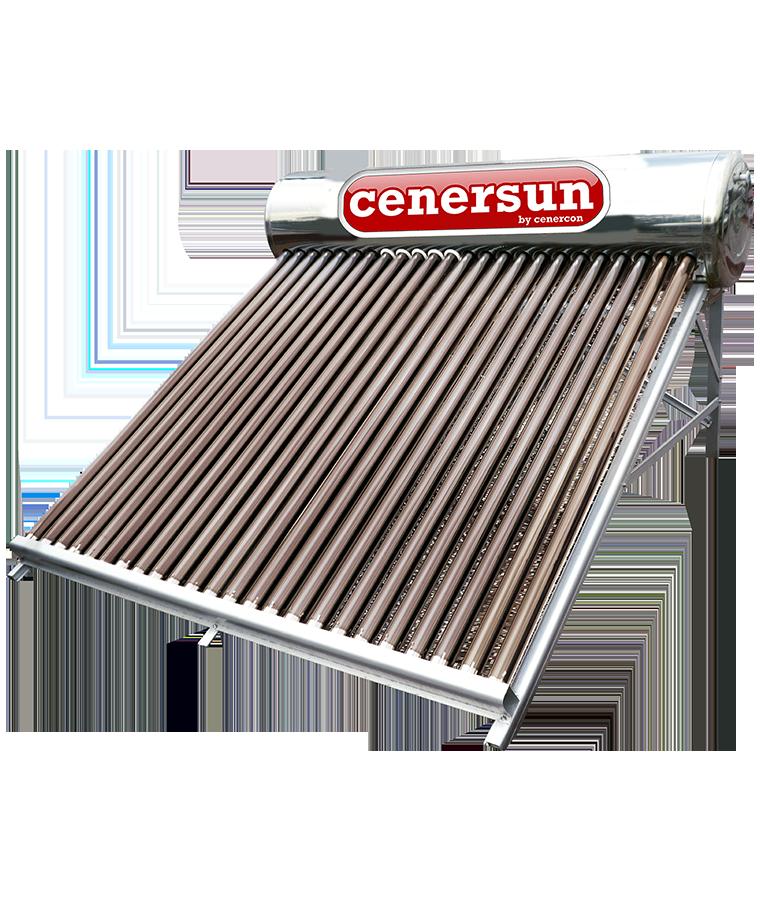 Calentador Solar Cenercon 310L 8 Personas P/ Tinaco 24 Tubos