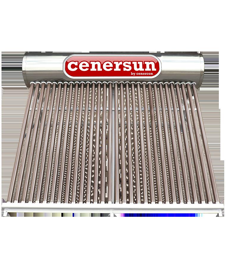 Calentador Solar Cenercon 390L 9 Personas P/ Tinaco 30 Tubos