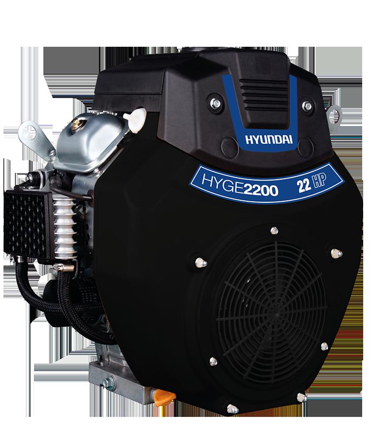 Motor a Gasolina Hyundai 4 Tiempos Tipo Cuña Eléctrico 22 HP