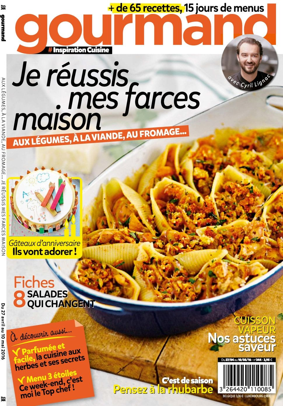 Gourmand 344 - 27 Avril au 10 Mai 2016