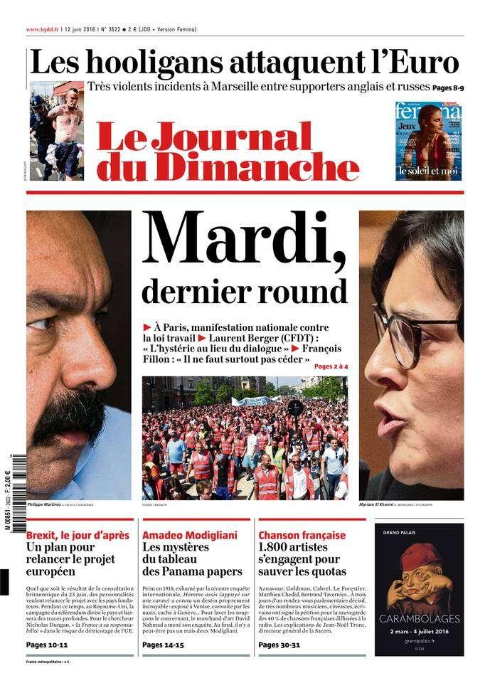 Le Journal du Dimanche 3622 du 12 Juin 2016