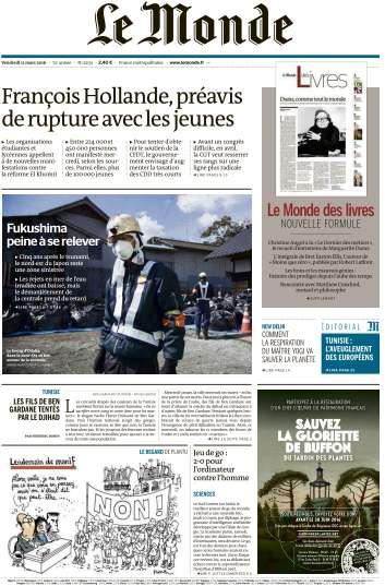 Le Monde + 2 sppléments du Vendredi 11 Mars 2016