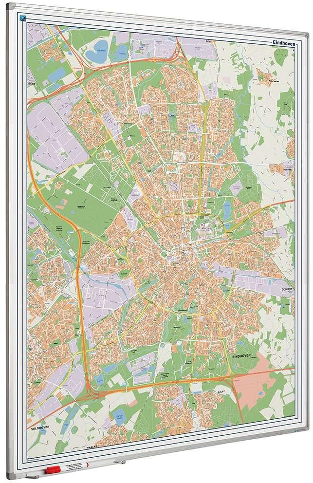 Photo: Landkaart bord Softline profiel 8mm, Eindhoven