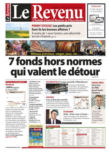 Le Revenu Hebdo Bourse 1386 - 22 au 28 Juillet 2016