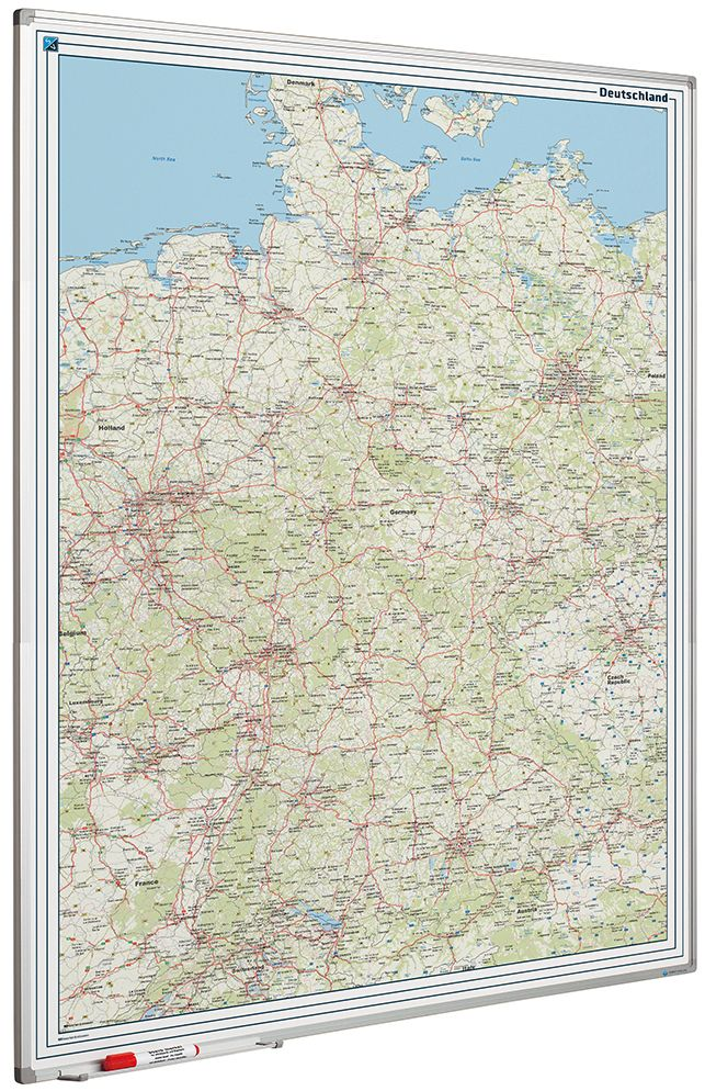 Photo: Landkaart bord Softline profiel 8mm, Duitsland Wegenkaart