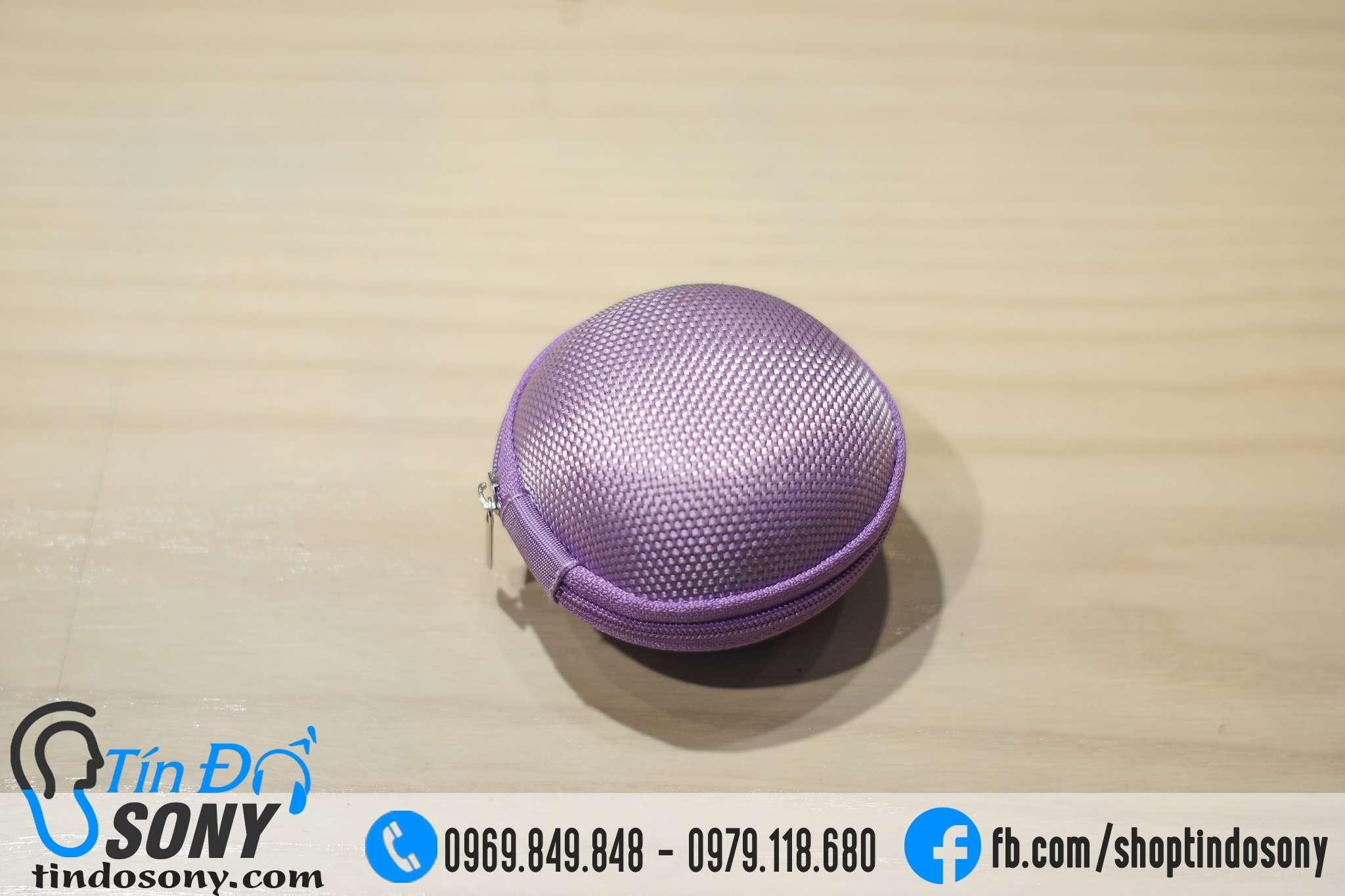 Box vải đựng tai nghe loại nhỏ (màu tím)