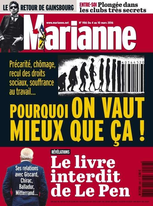 Marianne 986 - 4 au 10 Mars 2016