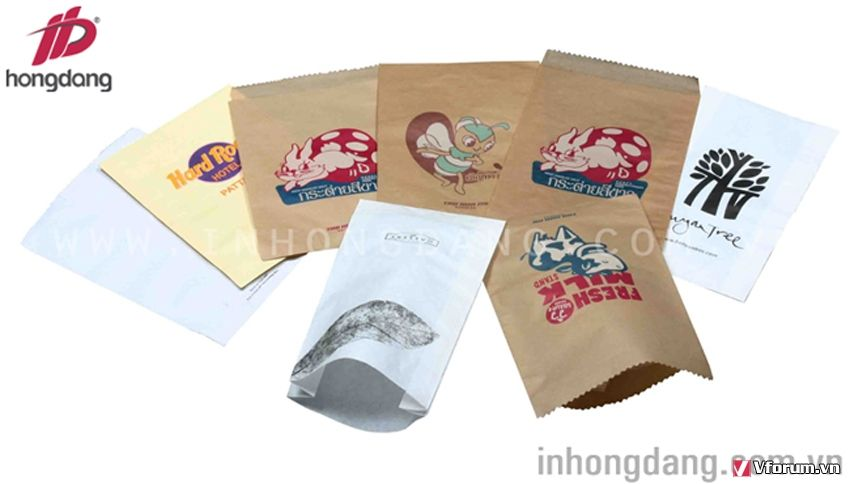 In túi giấy karft- giấy tái chế an toàn với môi trường