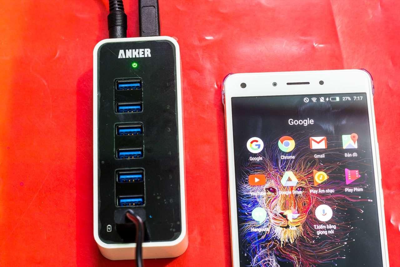 Anker USB 3.0 Hub 7*USB 3.0 Ports: Hub USB 7 cổng kèm khả năng sạc với công suất 60W cho 7 thiết bị - 164568