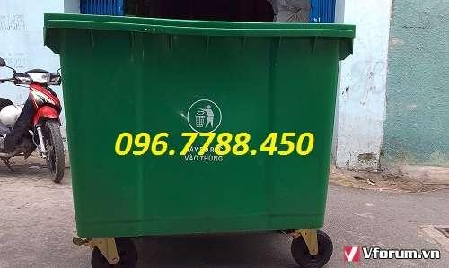 www.123raovat.com: Thùng rác 660 lít, thùng rác 4 bánh xe đẩy 0967788450