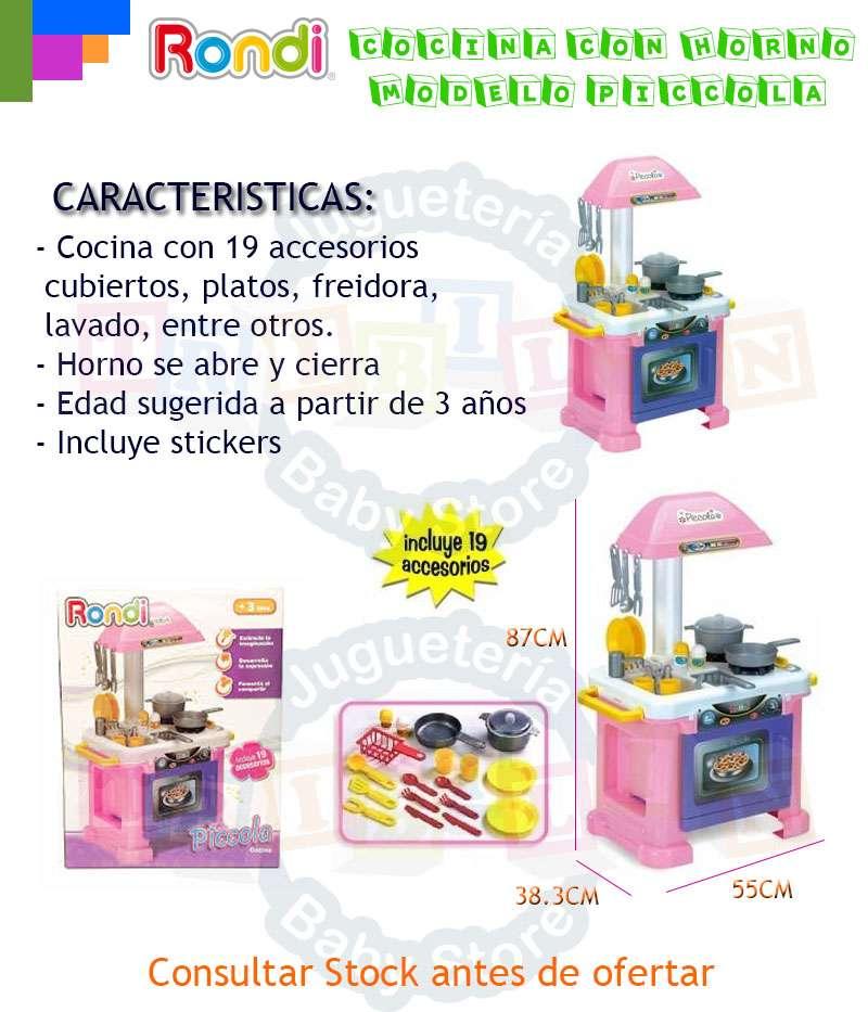 Cocina rondi grande con accesorios en caja piccola for Accesorios de cocina argentina
