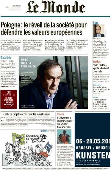 Le Monde du Mardi 10 Mai 2016