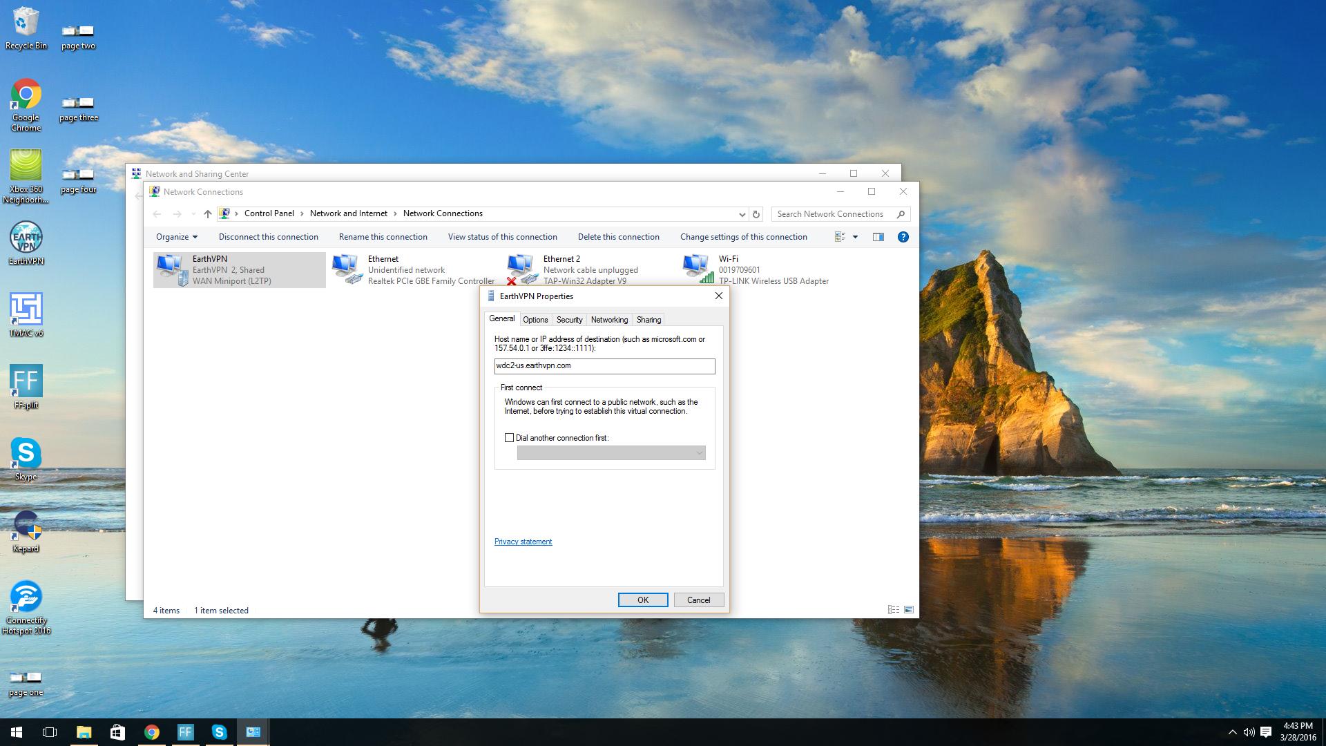 VPN (Internet) Sharing Through Ethernet not Working on Windows 10 ...