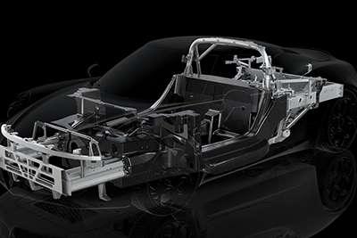 Alfa Romeo Carbon Fiber Monocoque Chassis