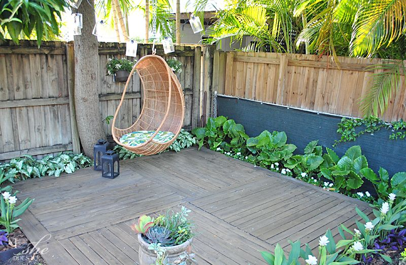 Deck surrounded by plants