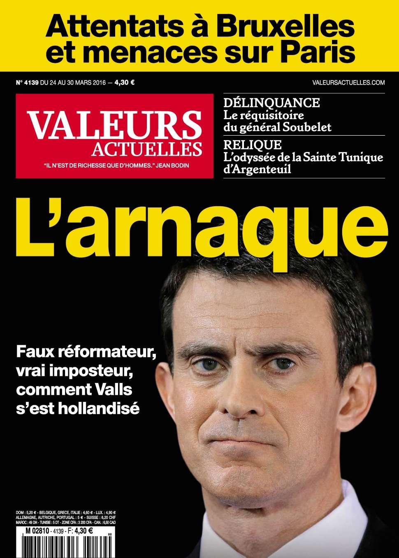Valeurs Actuelles 4139 - 24 au 30 Mars 2016