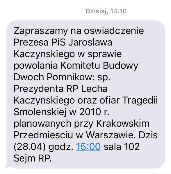 Nie chcę od was pomników na Krakowskim Przedmieściu