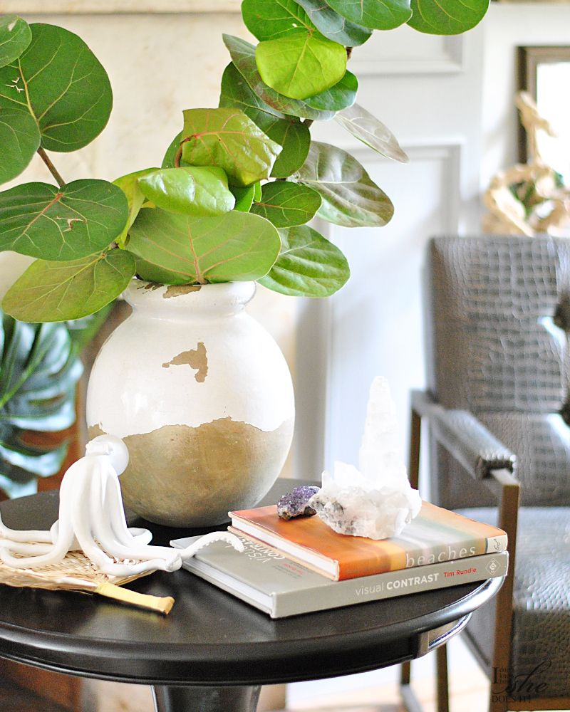Round coffee table styling tips