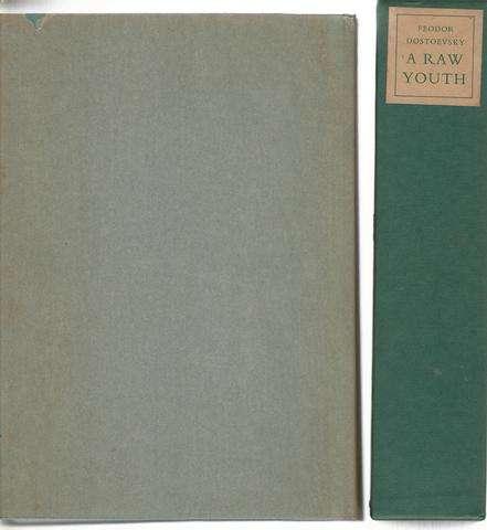 A Raw Youth. 2 volume set, Dostoevsky, Feodor; Garnett, Constance