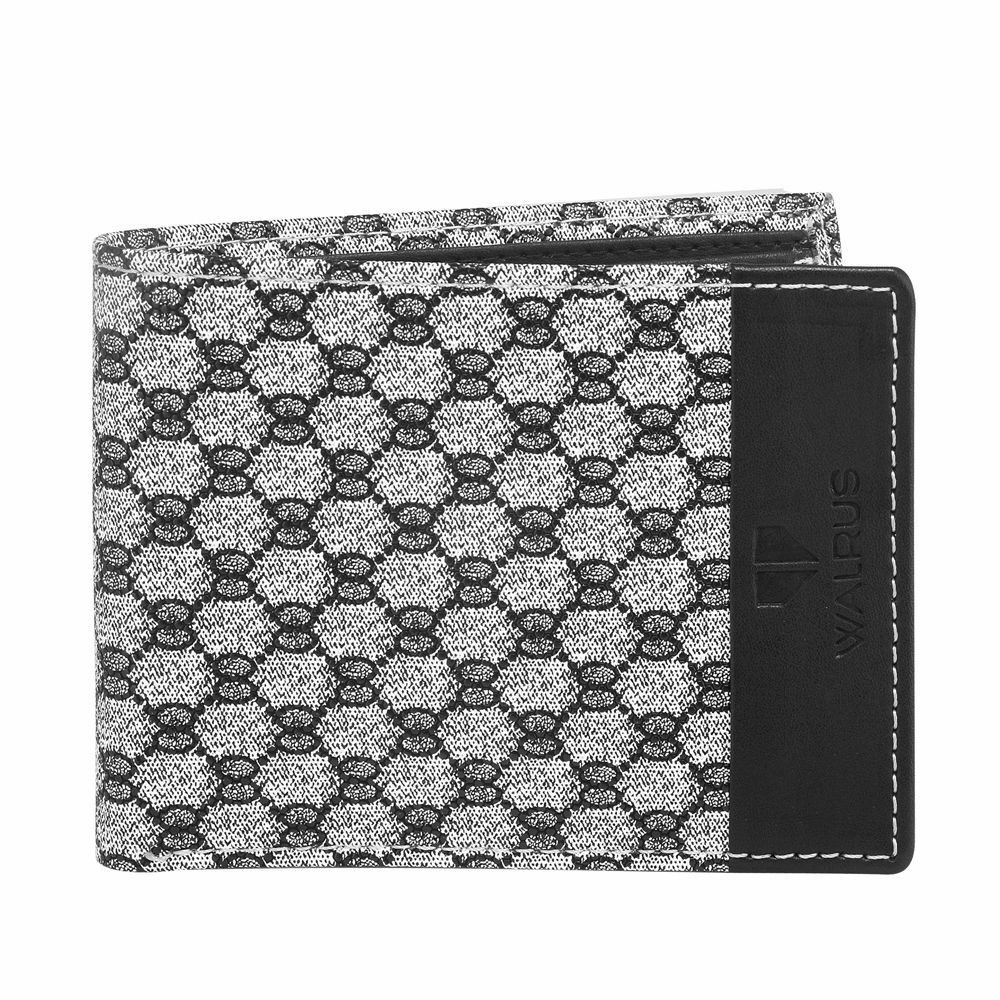 Walrus Landon White & Black Color Men Synthetic Wallet- WW-LDN-0102