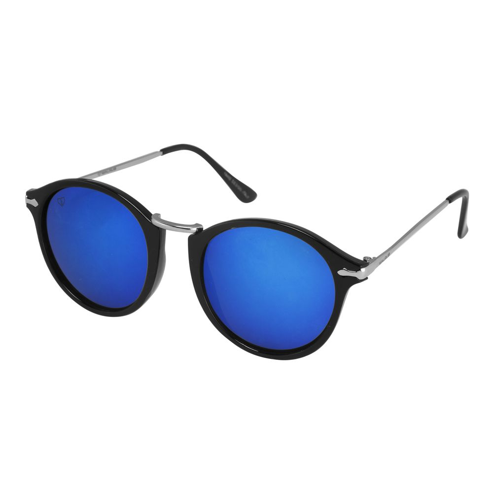 Walrus Jackson Blue Mirror Color Unisex Oval Sunglass - WS-JKSN-200207