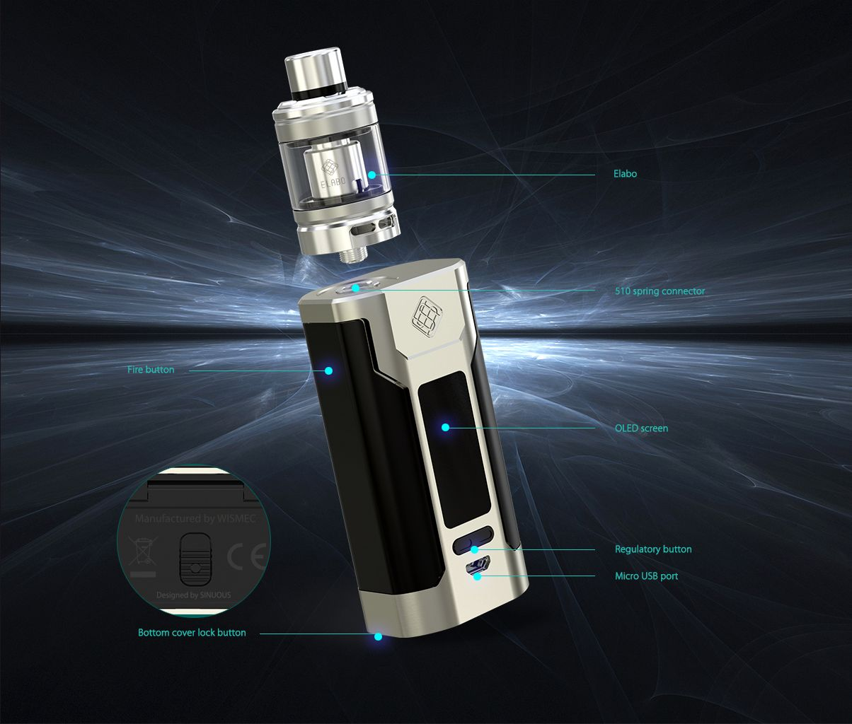 WISMEC Predator 228 TC Kit With Elabo Tank_vaporl.com