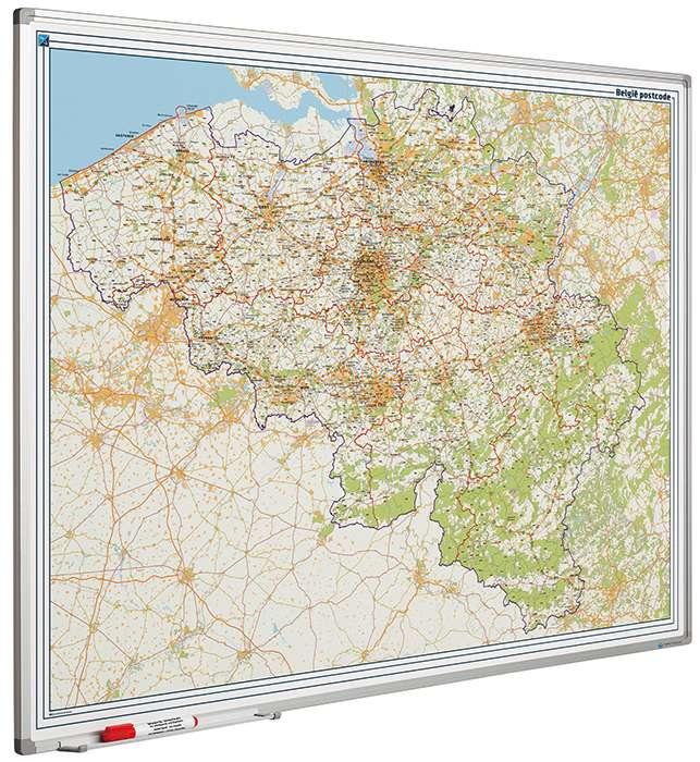 Photo: Landkaart bord Softline profiel 8mm, België PC