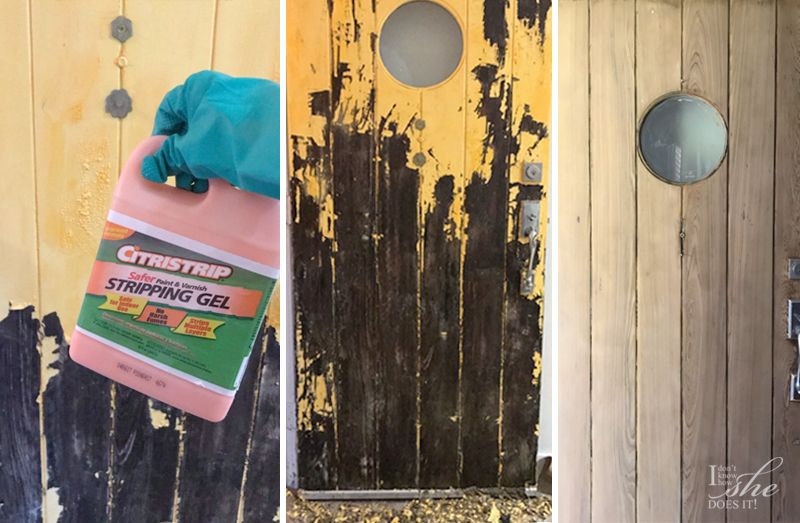 Process on how to remove paint from a front door
