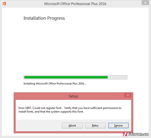 microsoft office professional plus 2013 error 1907