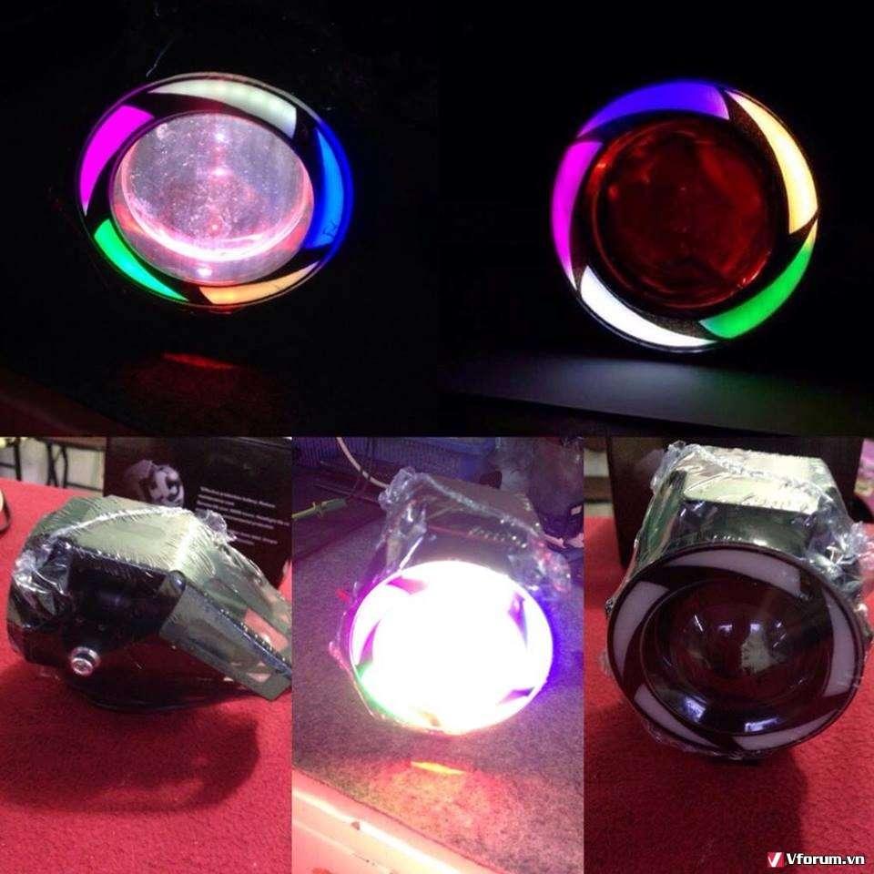 Chuyên Đèn Led Trợ Sáng Xe Máy C6.U5.U7.H14.Led Mắt Cú EX 150.V.v.. - 32