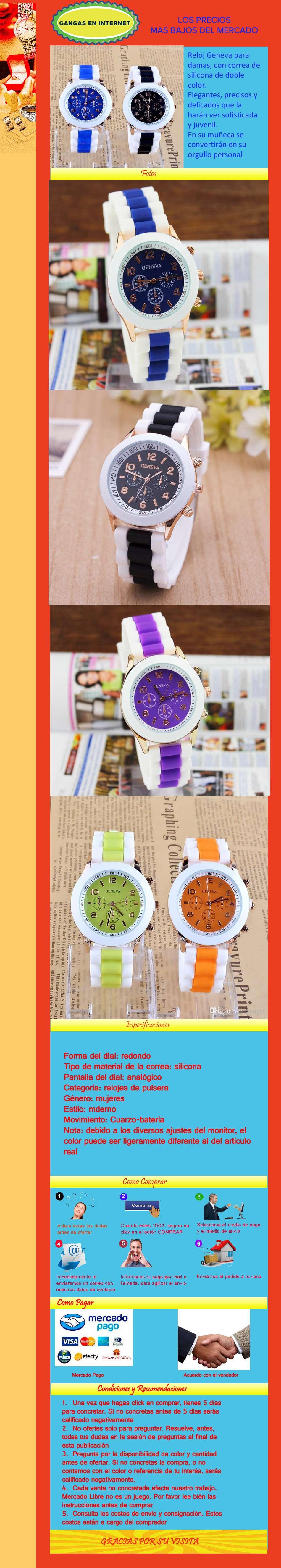 Reloj Pulsera Bicolor